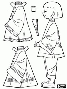 Traditional Chinese Clothing coloring page - RECURSOS DE EDUCACION INFANTIL: PROYECTO CHINA
