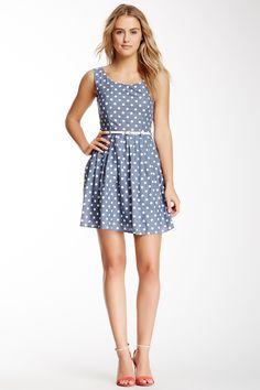 Yumi London Polka Dot Print Chambray Dress: LOVE IT