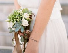 be happy tattoo and bouquet