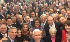 This is sickening. Big freaking surprise: Mike Pence And House Republicans Pose For The Whitest Selfie Ever.