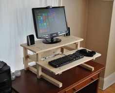 diy adjustable standing desk - Google Search
