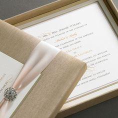 Fancy wedding invite in a box.