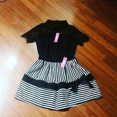 #camicia #pizzo #gonna mini #righe #valeria #abbigliamento