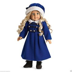 New American Girl Caroline's Winter Coat + Hat NIB Furry Collar No Doll or Boots