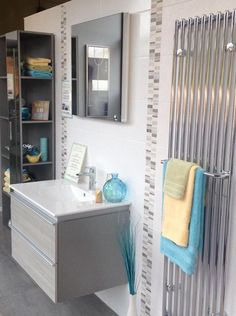 Duravit Darling on show at our Chesterfield Bathroom Centre Duravit, Floating Nightstand, Double Vanity, Interior Inspiration, Small Bathrooms, Cabinet, Chesterfield, Storage, Separate