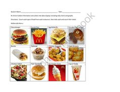 Fast Food Information for Posting into Data Displays from No Teacher Left Behind on TeachersNotebook.com (4 pages)  - Fast Food Restaurant Information for Posting into Data Displays
