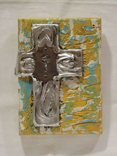 for the cross wall. Lock in the middle Church Signs, Silver Walls, Cross Art, Wall Crosses, Religious Art, Artsy Fartsy, Home Accessories, House Ideas, Middle