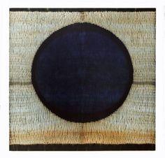 Frank Connet Indigo and walnut dyes on wool using shibori sewn resist.
