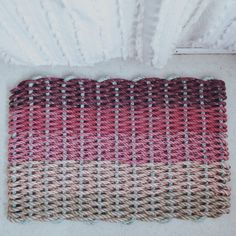 From the ocean floor to your door, this pink ombre doormat made from recycled lobster rope is not only eco-friendly, its adorable. Check out