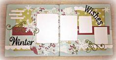 Winter Wishes scrapbook layout by Susie