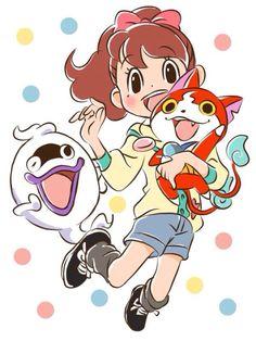 Yo-kai Watch | Katie (Fumika), Whisper, Jibanyan