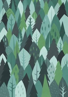 forest gift wrap by Justine Howlett.