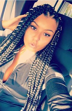 ⚠️ATTENTION:Pinterest: @blu333___ Add sc: just.blu333 YouTube: Blue's with blu333 TUMBLER: justblu333 INSTAGRAM: under construction STAY TUNE NEW VIDEO ALERT SORRY FOR BEING GONE FOR SOOO LONG Cornrow Hairstyles 2017, Hairstyle Braid, Box Braids Hairstyles, Protective Hairstyles, Medium Hairstyle, Protective Styles, Rubber Band Box Braids, Faux Locs, Pretty Braids