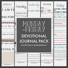 5 day devotional journal free printable download printout for christian women // faith scripture bible verse christianity small group church resources downloadable pdf http://www.brucebugbee.com/