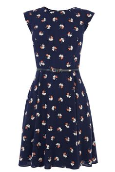New In | Multi Clover Print Dress | Oasis $77  office look teacher teaching outfit work