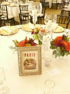 My travel themed wedding - Every table was named for a country the couple has been to!