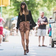 look street, animal print,blusa preta trançada