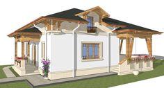 Căsuţa din câmpie 03 Design Case, Traditional House, Gazebo, Outdoor Structures, House Design, Interior, Romania, Cottages, Home