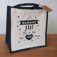 SHOP DEZE TAS De juf van mijn zoontje kreeg vandaag deze tas Kdoo .... omdat ze zo fanTAStisch goed voor hem heeft gezorgd :) En nu, (...