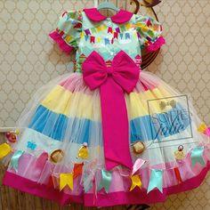Nosso arraiá todo encantado nossas princesas caipiras sim sim as mais lindas !!! Little Girl Dress Patterns, Little Girl Dresses, Little Girls, Girls Dresses, Pattu Saree Blouse Designs, Country Dresses, Girly Things, Cute Dresses, Doll Clothes