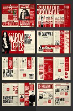 Diseño Editorial - Revista Pymes (re-diseño) by Boris Vargas Vasquez, via Behance