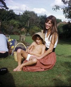 Beautiful Jane Birkin with her daughter Kate Barry.