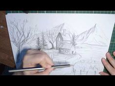Desen in creion cu peisaj de toamna - Pencil drawing with autumn landscape Pencil Drawings, Autumn, Landscape, Youtube, Fall Season, Fall, Scenery, Youtubers, Youtube Movies