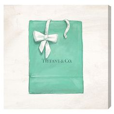 Accent your gallery wall in eye-catching style or create an artful focal point in the living room with this chic canvas print, featuring a Tiffany & Co. shop...