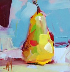 """""""Pear no. 32 Painting"""" by Angela Moulton"""
