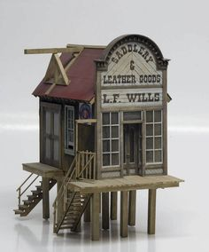 """Railroad Line Forums - The Gallery: Jan 09 """"Hoists, Derricks, and Cranes"""" Old West Town, Garden Railroad, Glitter Houses, Model Train Layouts, Miniature Houses, Model Building, Miniture Things, Model Homes, Model Trains"""