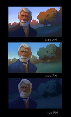 From Ty Carter at www.tycarter.com Time of Day Demo from CGMA Class. 1. Design Composition 2. Block in Values into shapes using the lasso tool 3. Block in Local Colours based on values 4. Add Cast and Core Shadows 5. Add necessary Fill, Bounce Lights and Highlights