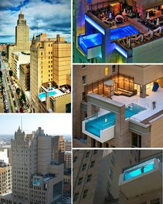 Amazing Pool!!! Joule Hotel, Dallas. The pool is a new intervention By Architexas