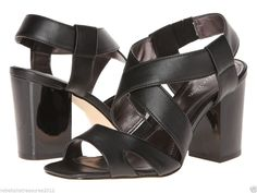 Calvin Klein Women's Vaelyn Sandal in Nappa Leather size 5.5  Comfort & Style!