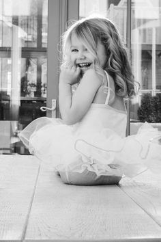 Children's photography, black and white, ballet, ballerina, girl