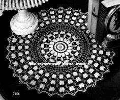 Doily 7256 free vintage crochet doilies patterns