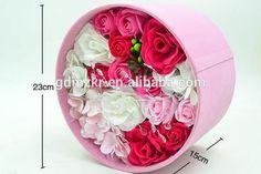 Luxury Custom Logo Cardboard Tube Gift wholesale acrylic flower box