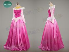 Disney Sleeping Beauty Cosplay Princess Aurora Costume Outfit*3 Versions