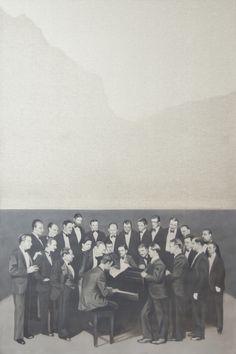 Ensemble  oil on canvas 80x120  2017 Galleria Susanna Orlando Pietrasanta