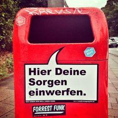 Hamburg Mülleimer Spruch