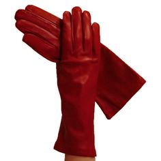 Garnet Red 4-Inch Ladies Italian Leather Gloves Silk-lined | Solo Classe