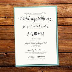Quirky Wedding Shower Invitation. $2.00, via Etsy.