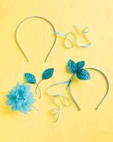 How to - Little Girl Headband  http://www.marthastewartweddings.com/225758/flower-girl-headband-how#