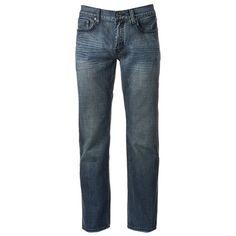 Men's Urban Pipeline® Premium Light Wash Relaxed Straight Jeans ($44) ❤ liked on Polyvore featuring men's fashion, men's clothing, men's jeans, pants, guys, men, silver, mens button fly jeans, mens straight leg jeans and mens relaxed boot cut jeans