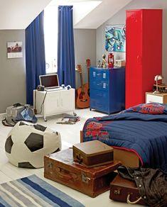 Chambre ado garçon : 11 Déco de chambres dans le coup | Peinture ...