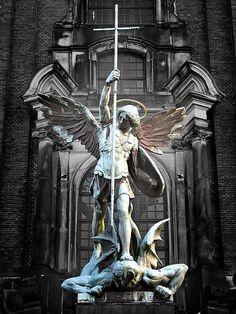 Michael the Archangel defends against the devil Visit Awesome Art & Model on Facebook or www.ArtandModel.webs.com