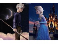 Jelsa's love what can't make. Because look at the background. *Disney & Dream Works*