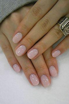 Clean, natural look. Beautiful nail color.