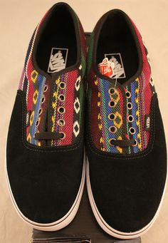 """VANS """"Off the Wall"""" authentic Guate striped skate shoes, black suede sneakers"""