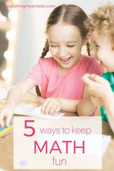 5 Ways to Keep Math Fun Nourishing My Scholar 5 Ways to Keep Math Fun Keep math fun for your kids with these awesome ideas that are super easy to incorporate into everyd. Math For Kids, Fun Math, Math Activities, Kindergarten Homeschool Curriculum, Teaching Math, Homeschooling Resources, Teaching Resources, First Grade Math, Classroom Fun