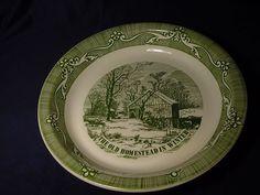 #11051 Old Curiosity Shop Pie Plate Royal USA Vintage Baking Dish